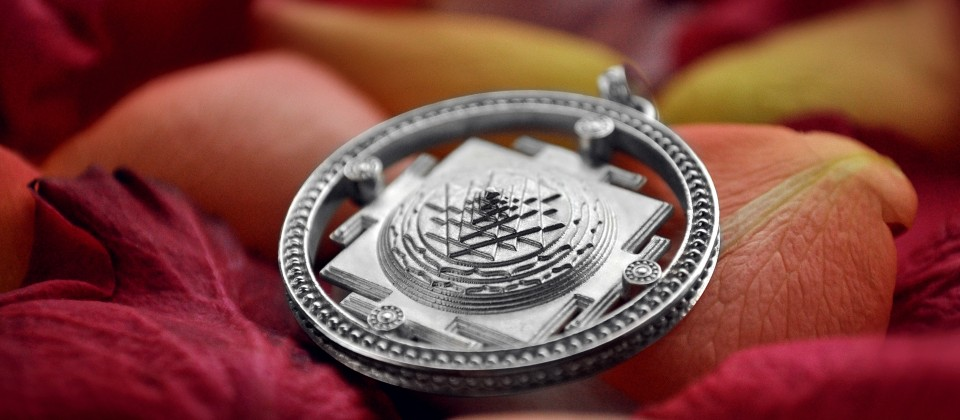 Small hand made silver shr yantra pendant astrogem small shri yantra silver hand made pendant aloadofball Image collections